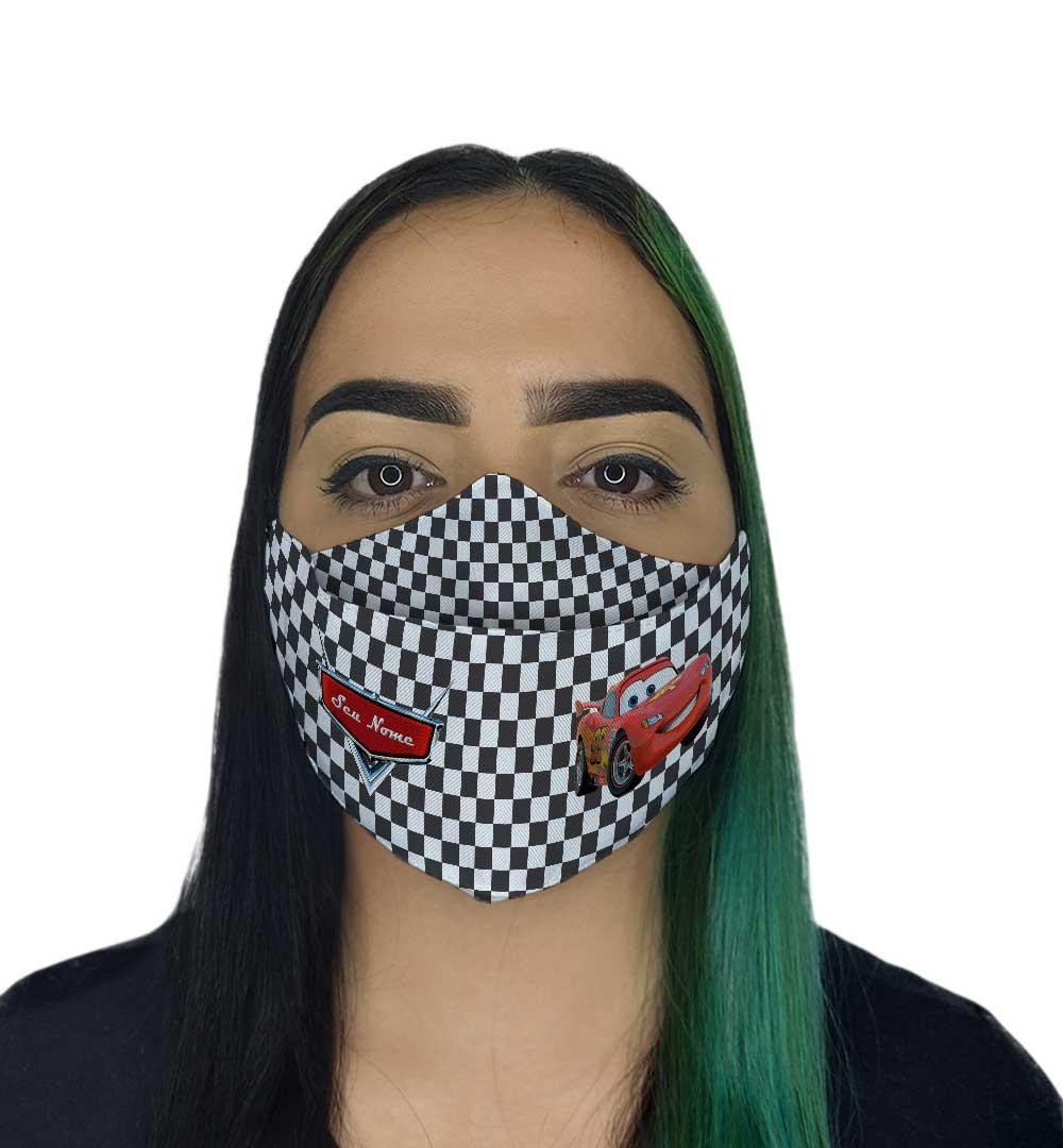 Máscara 3D - Carros com nome
