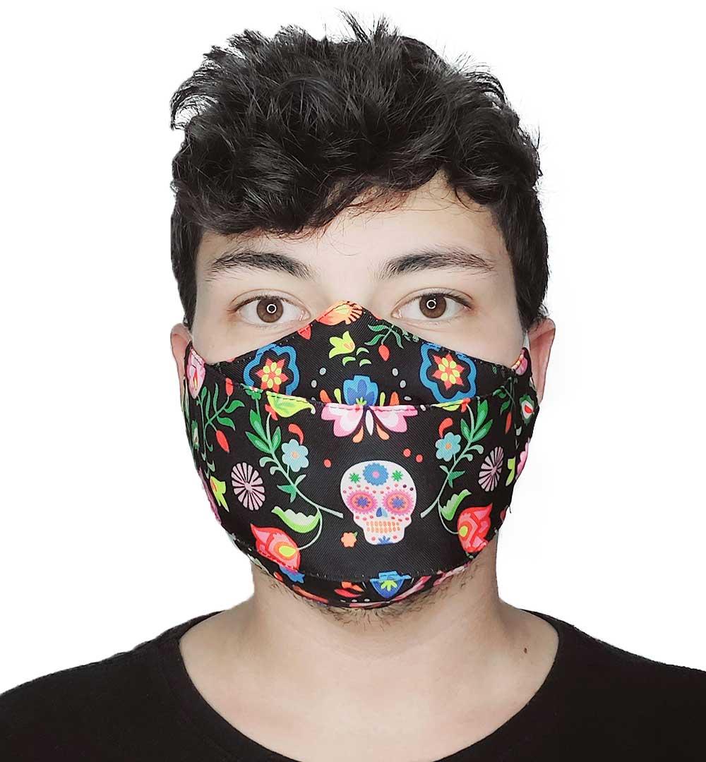 Máscara 3D Caveira Mexicana