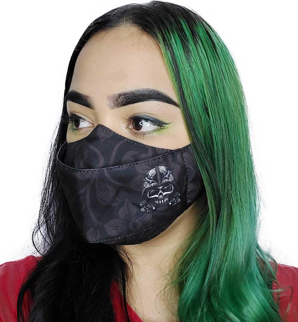 Máscara 3D Caveira Negra