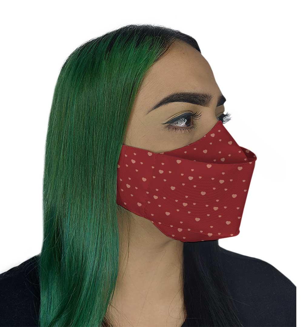 Máscara 3D - Coração Vermelha