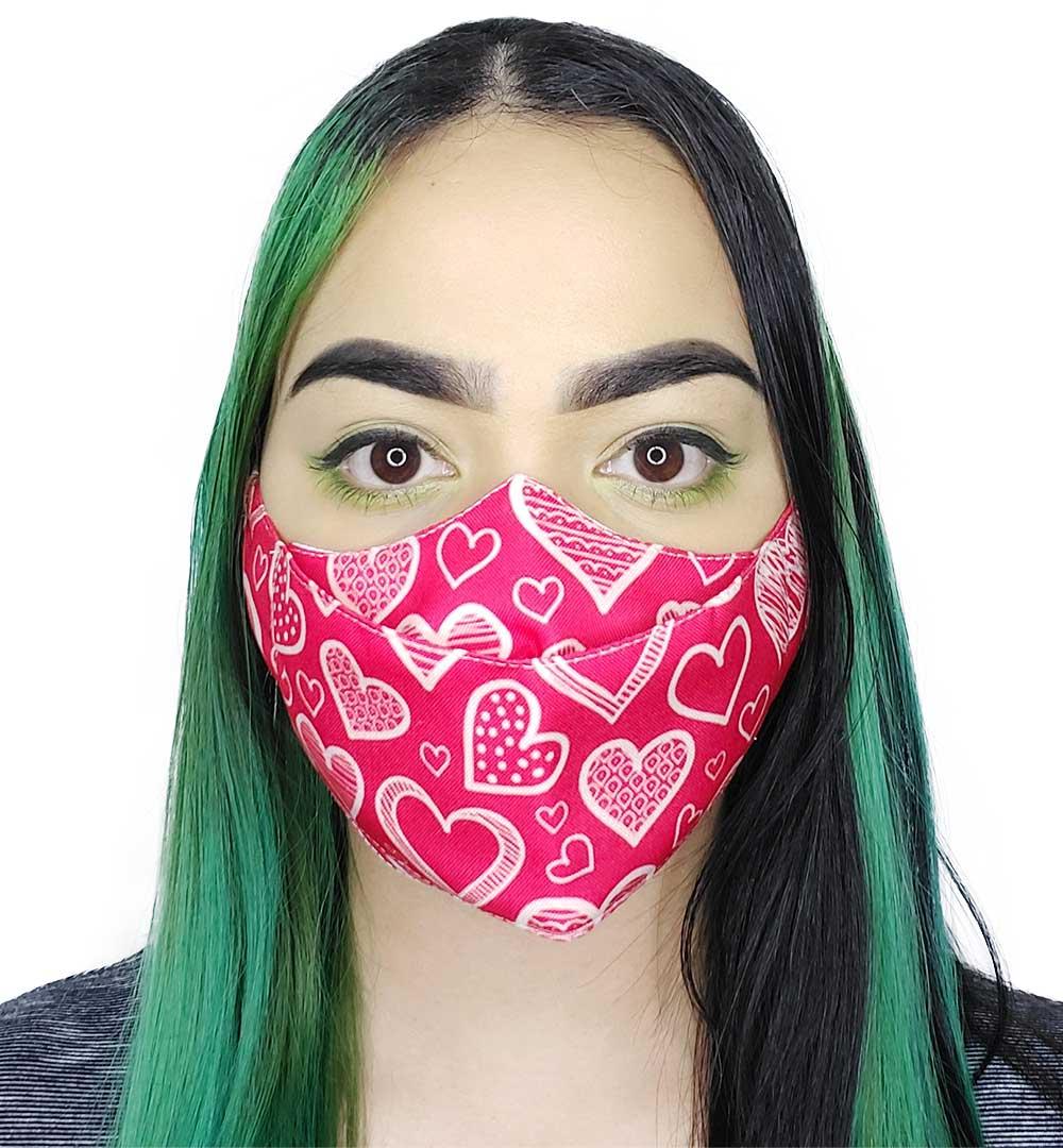 Máscara 3D Corações