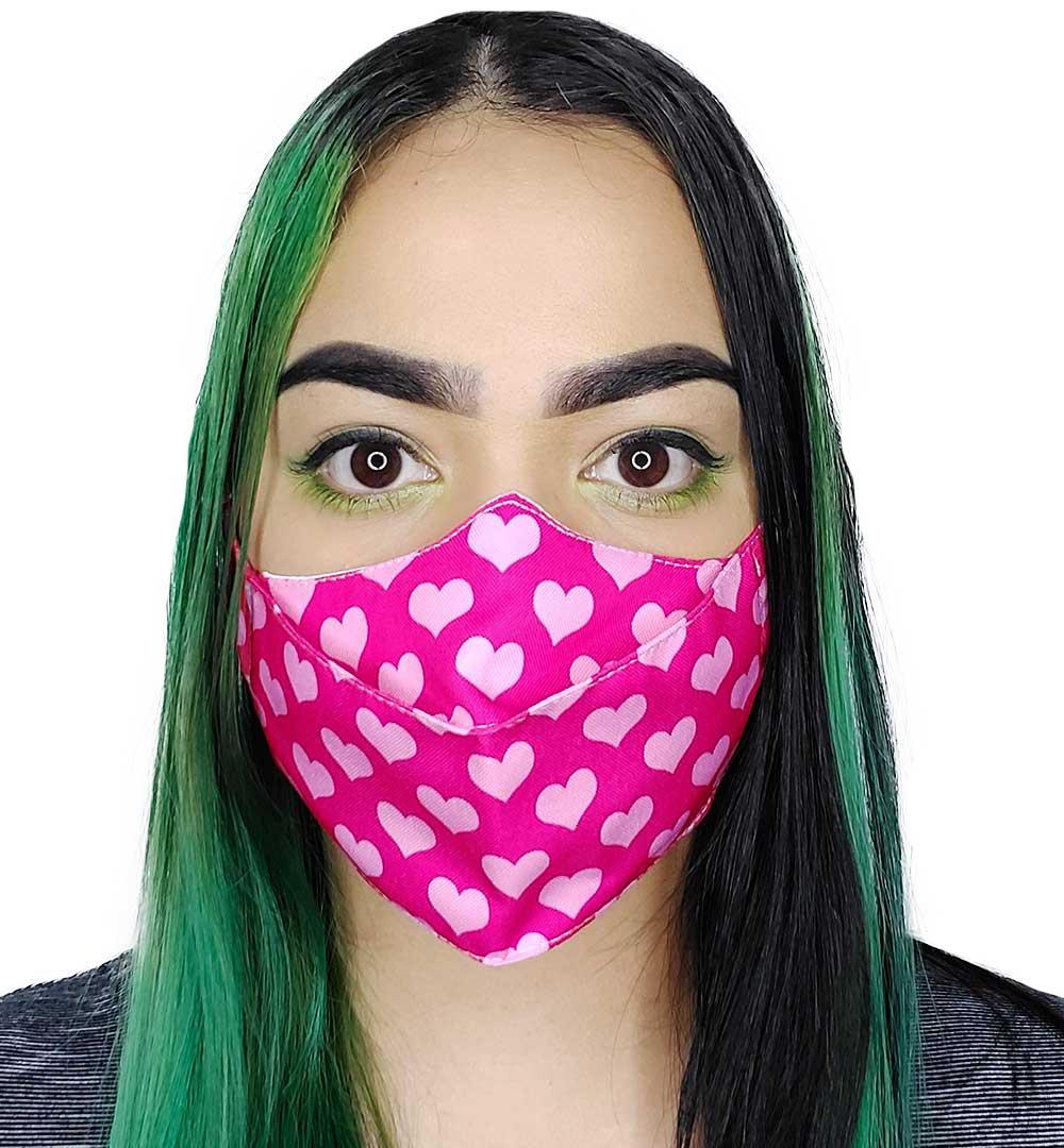 Máscara 3D Corações II