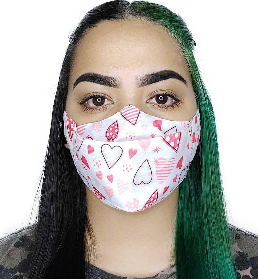 Máscara 3D Corações III
