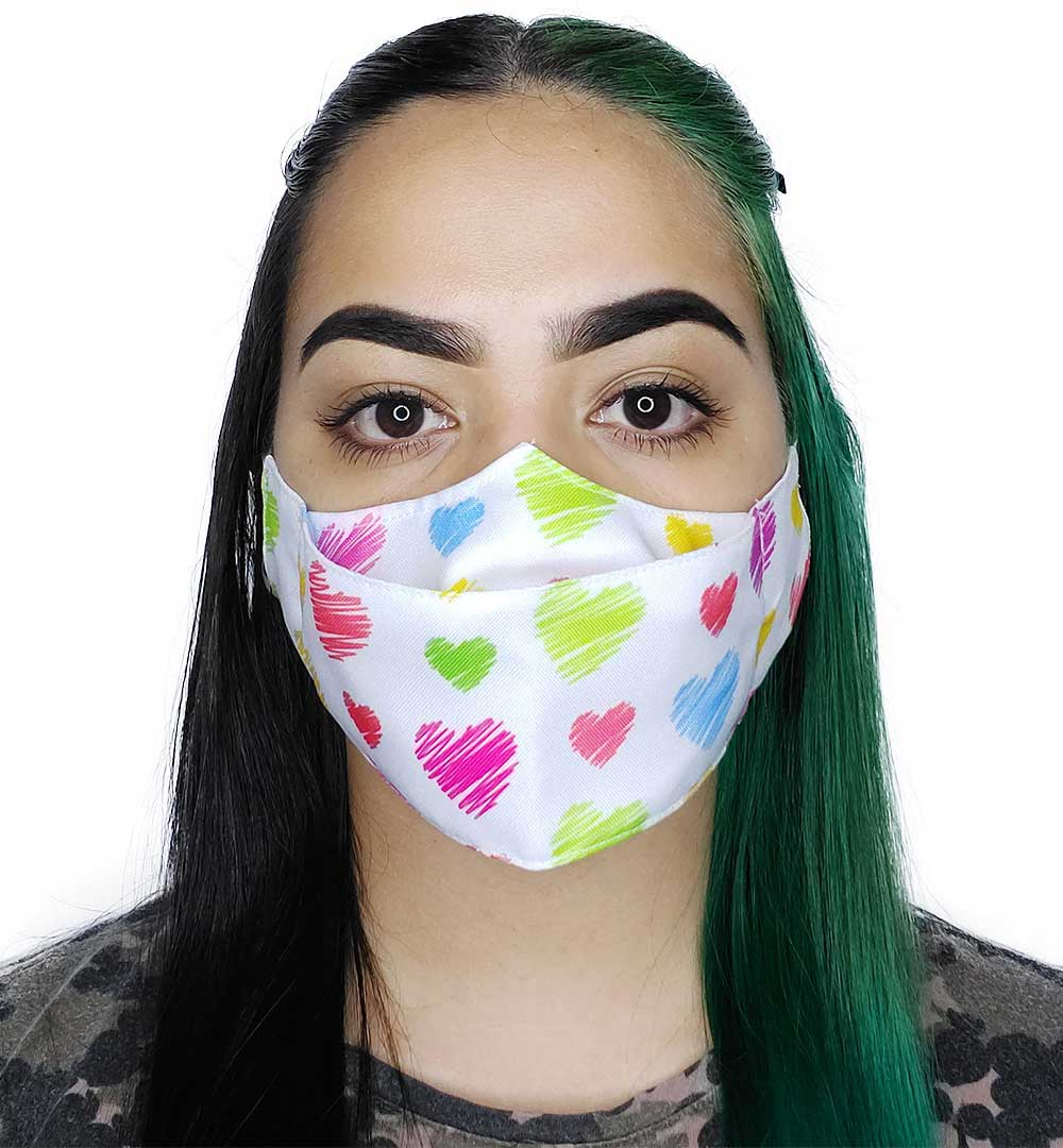 Máscara 3D Corações IV