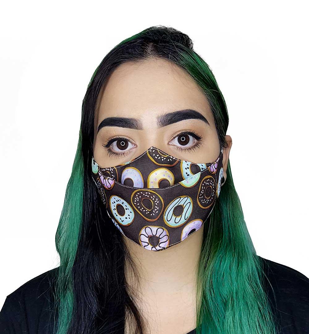 Máscara 3D Donuts
