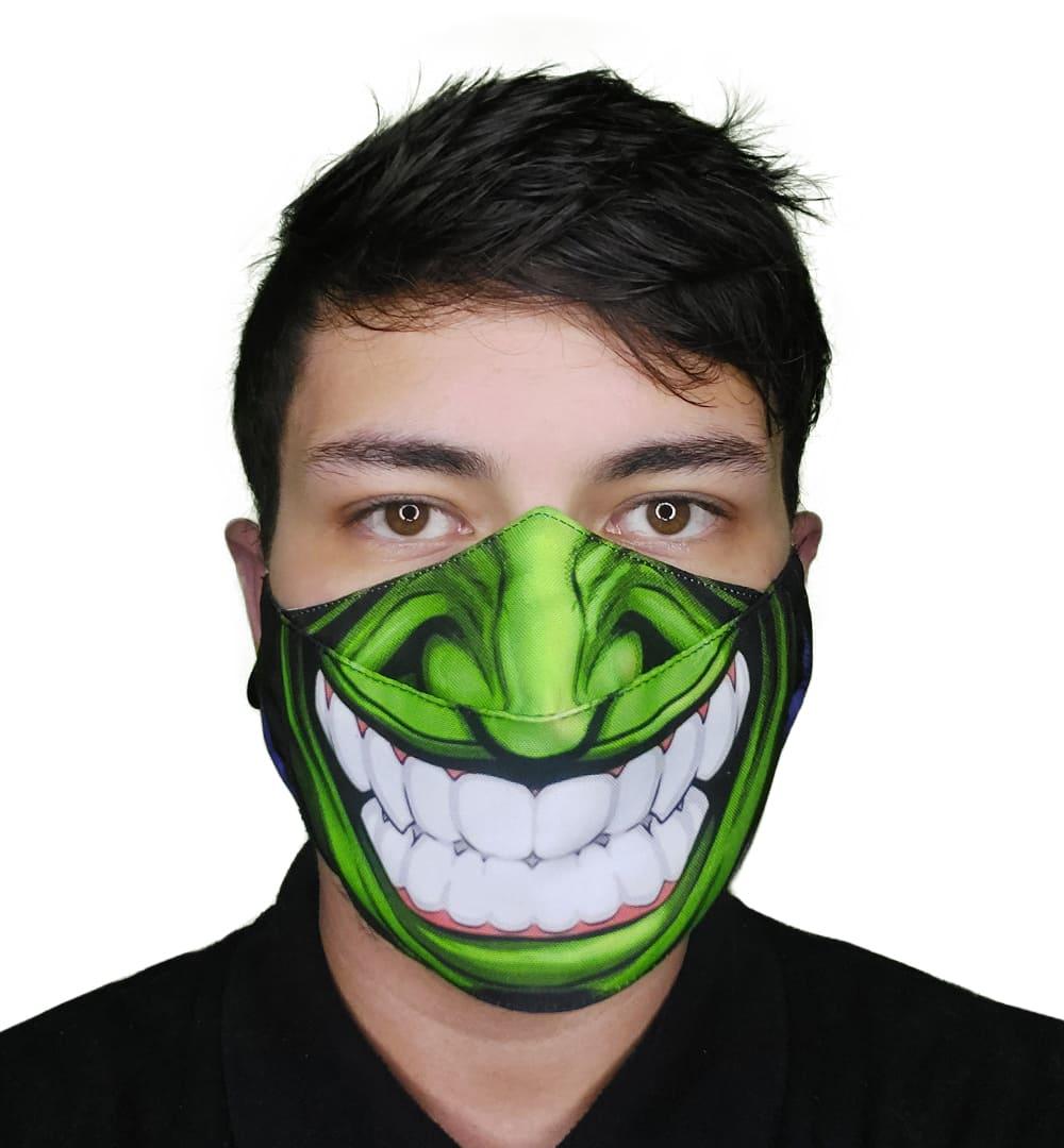 Máscara 3D - Sorriso Verde