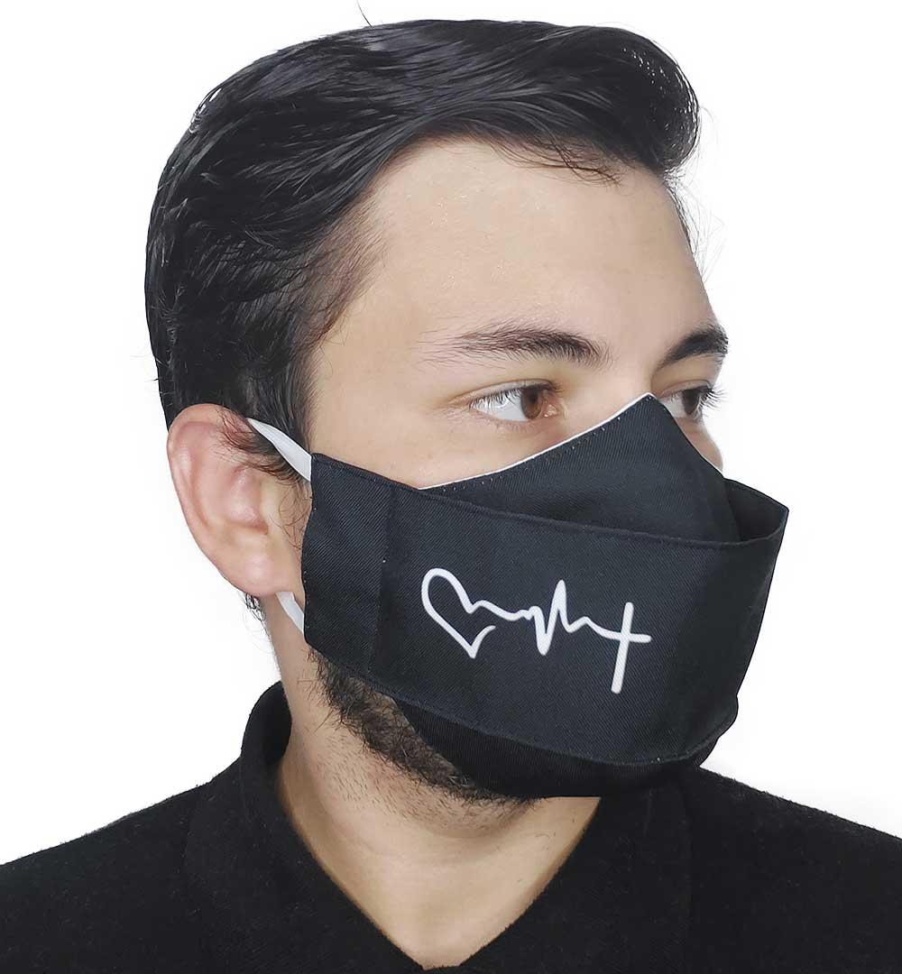 Máscara 3D Fé - Coração