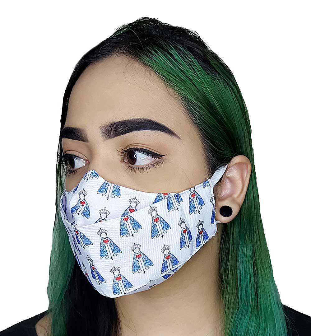 Máscara 3D Fé Nossa Senhora de Fátima