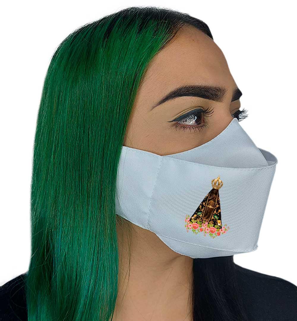 Máscara 3D Fé Nossa Senhora  Aparecida ll