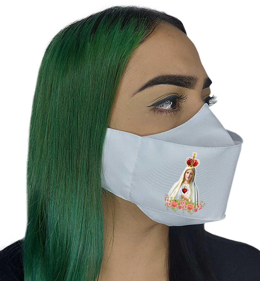 Máscara 3D Fé Nossa Senhora de Fátima lll