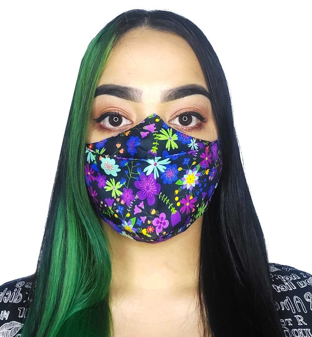 Máscara 3D Flores