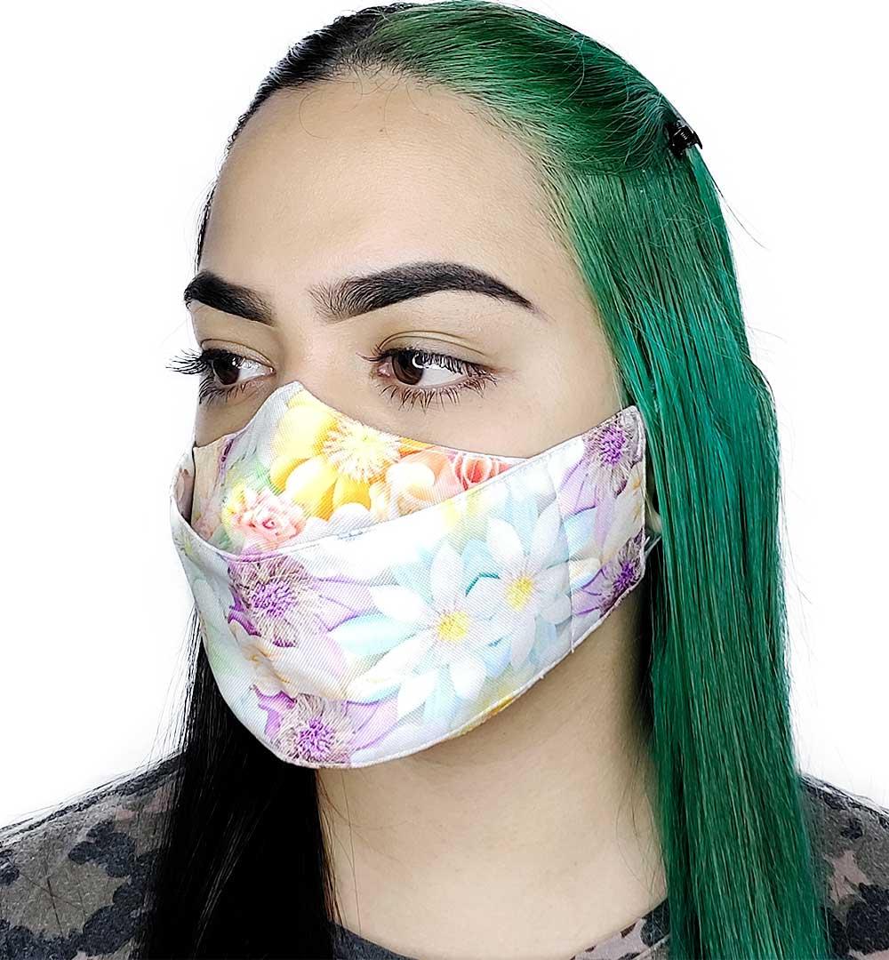 Máscara 3D Flores II