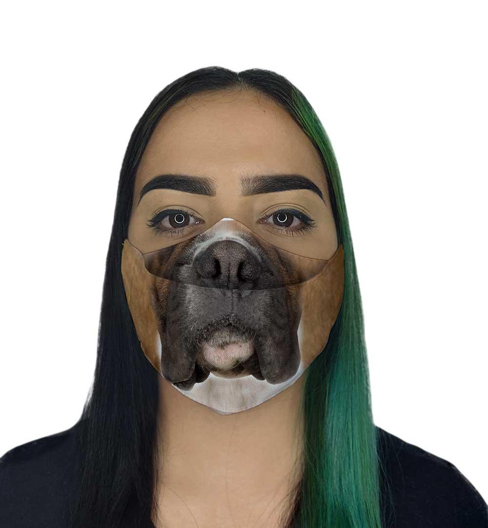 Máscara 3D - Focinho de Cachorro