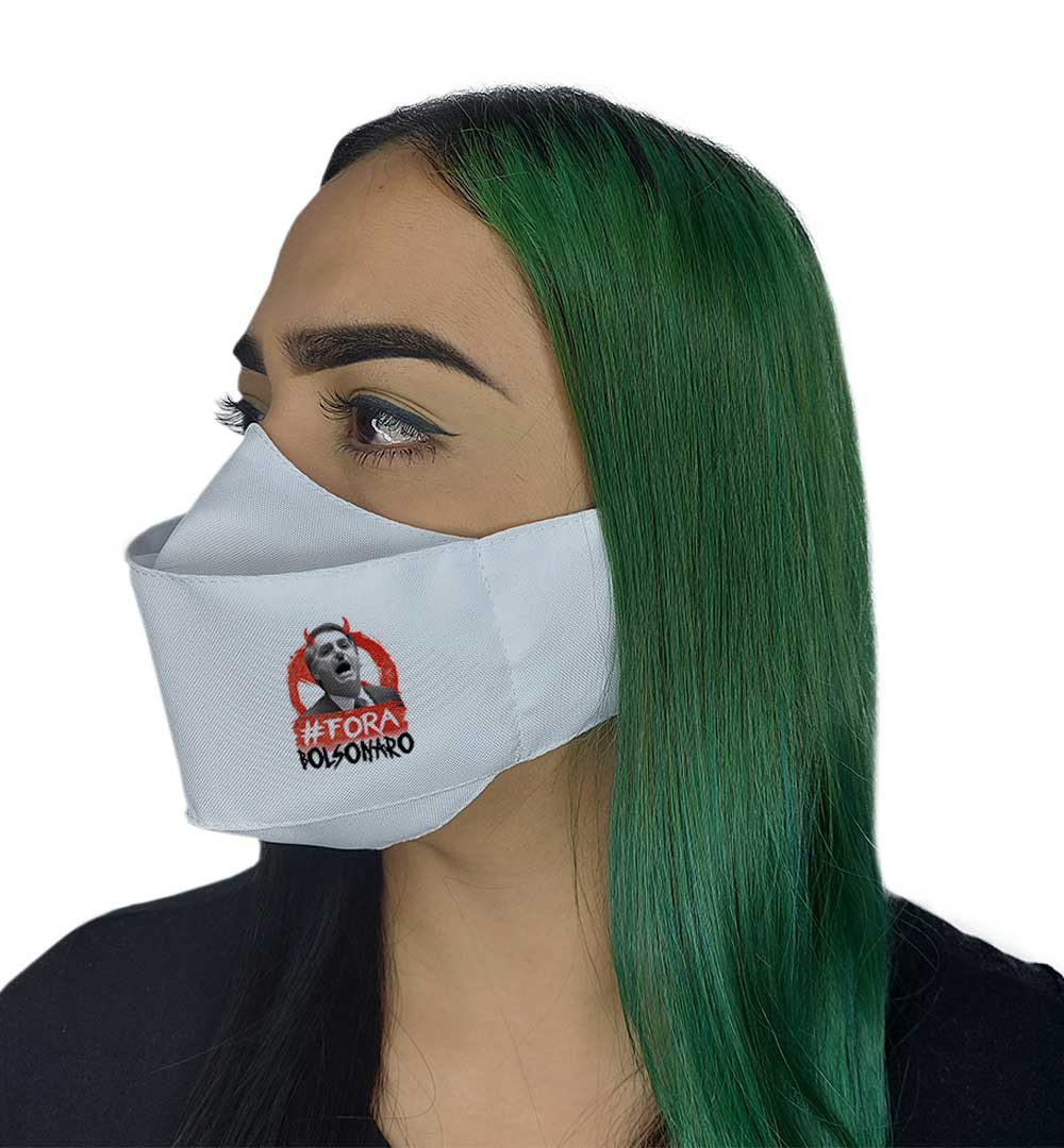 Máscara 3D - Fora Bozo