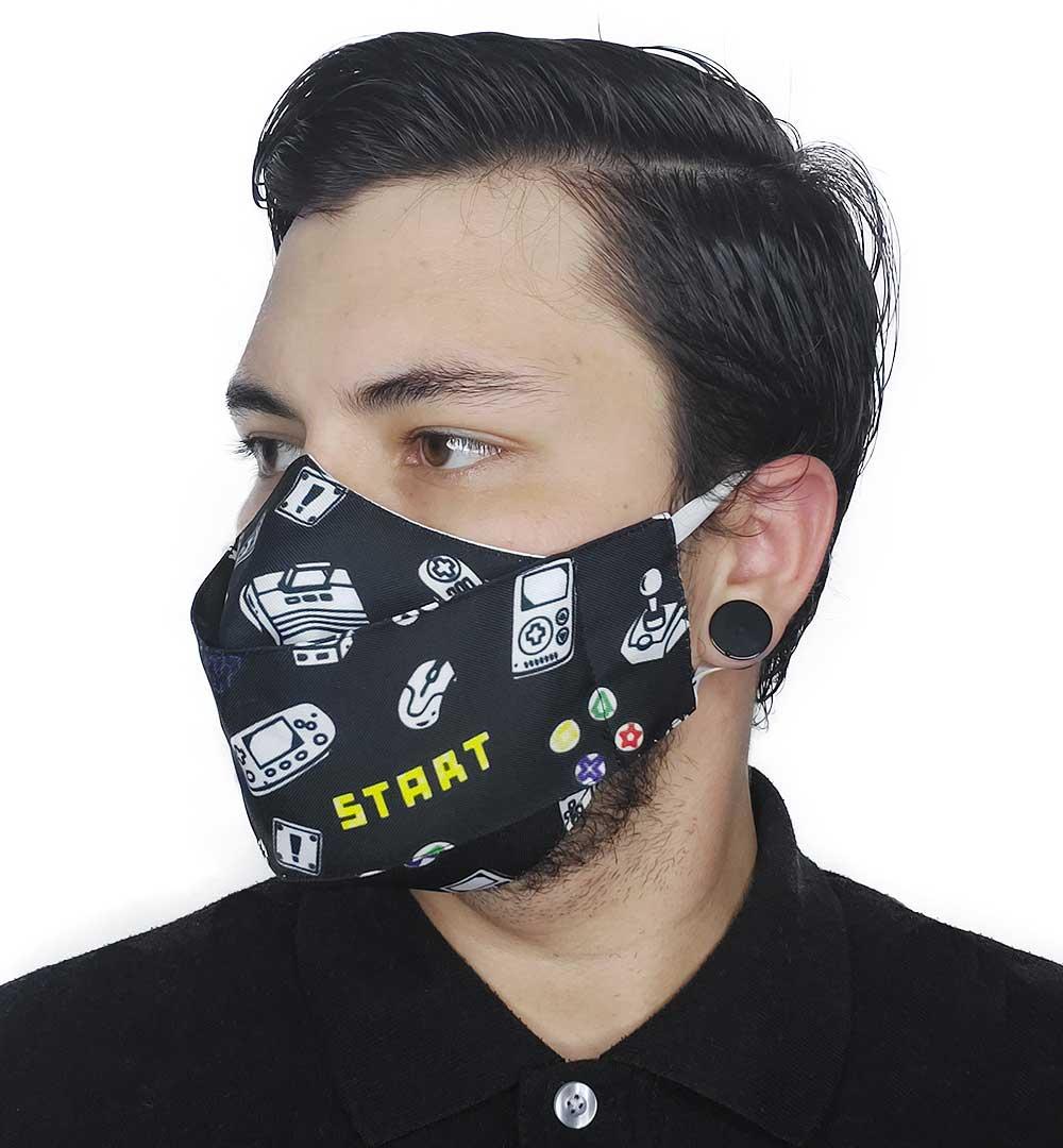 Máscara 3D Game Retrô