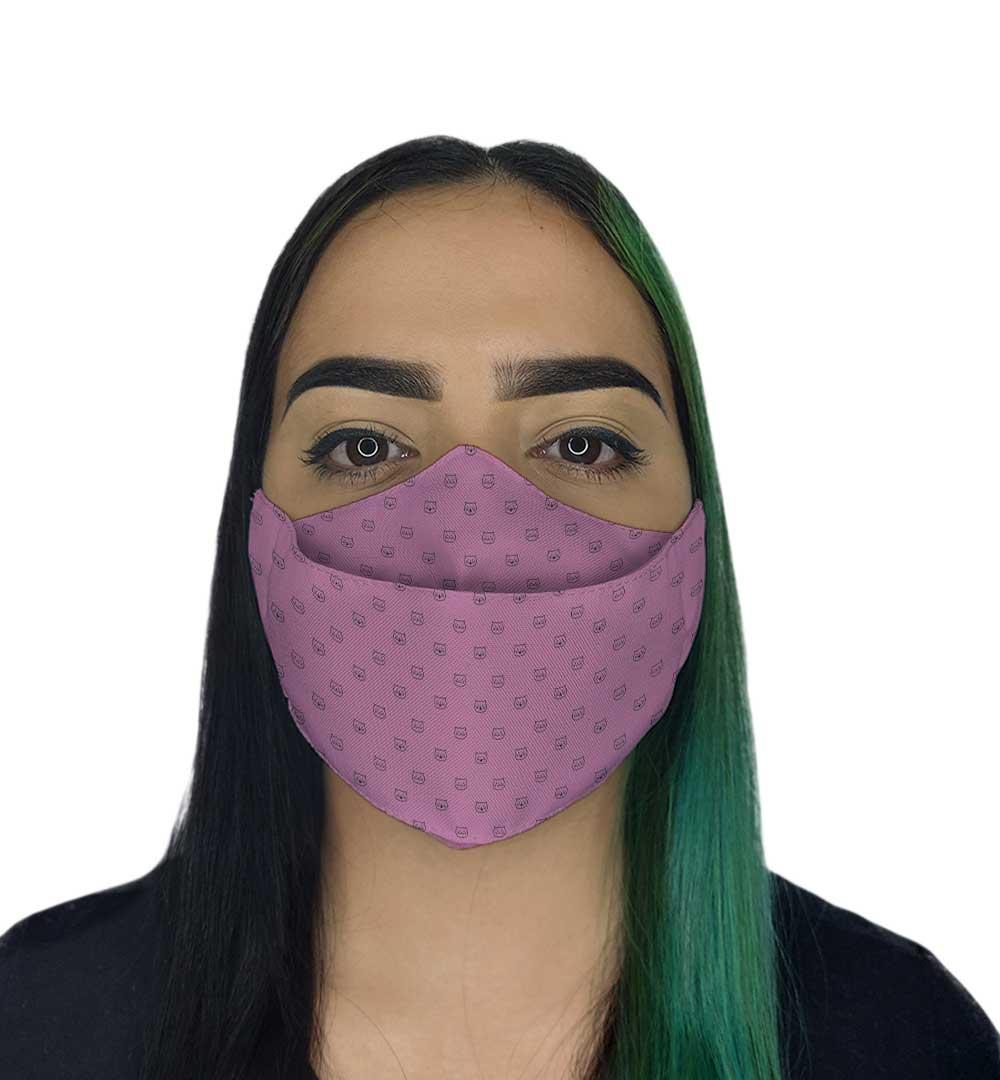 Máscara 3D - Gatinhos Rosa