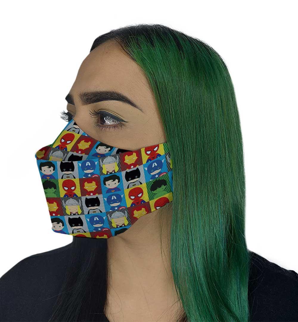 Máscara 3D - Heróis II