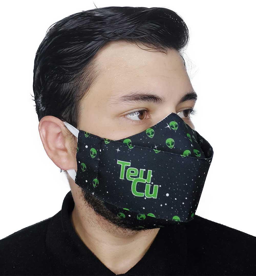 Máscara 3D Impaciente - Meme Teu Cu