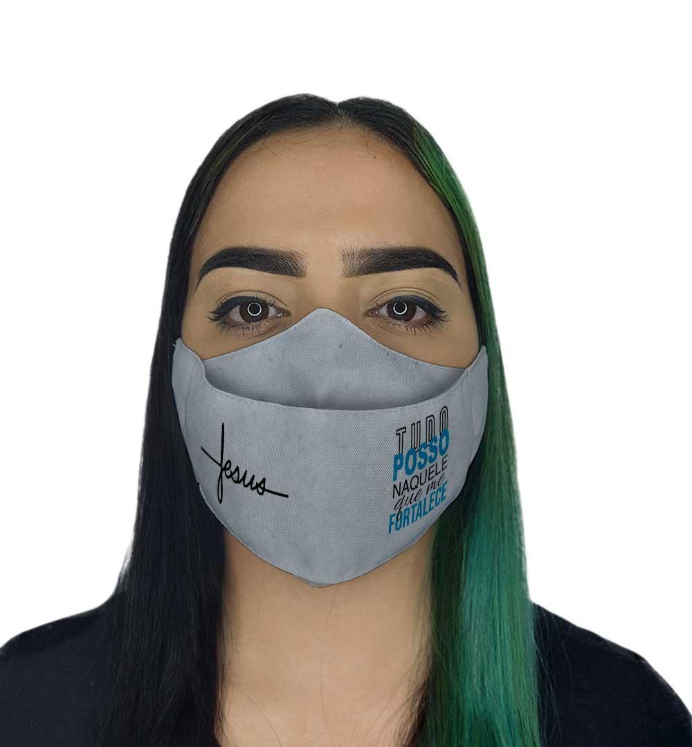 Máscara 3D - Jesus Tudo Posso