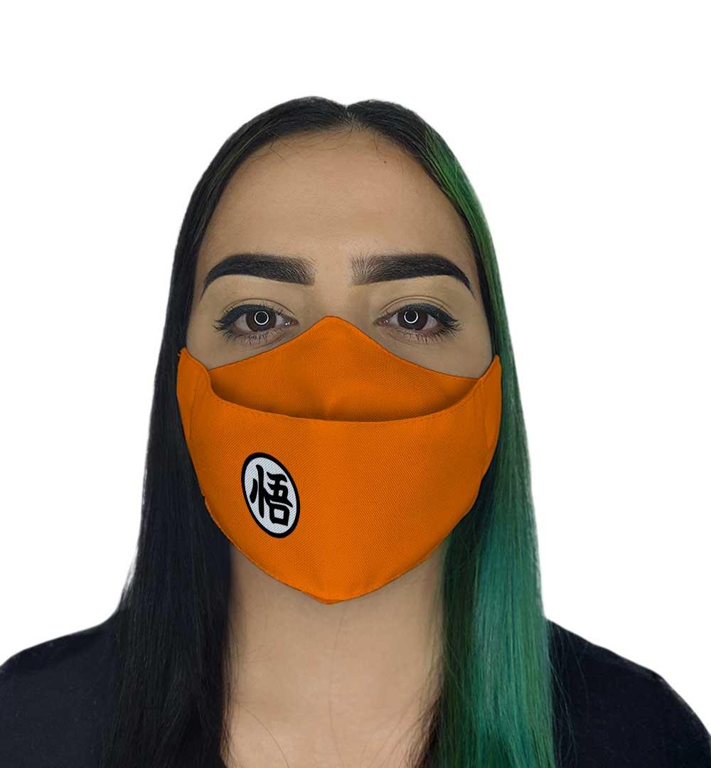 Máscara 3D - Laranja