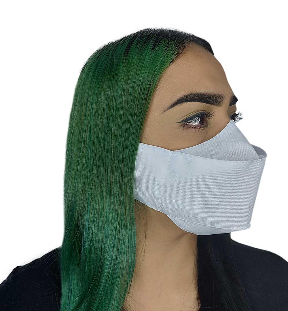 Máscara 3D Branca Lisa