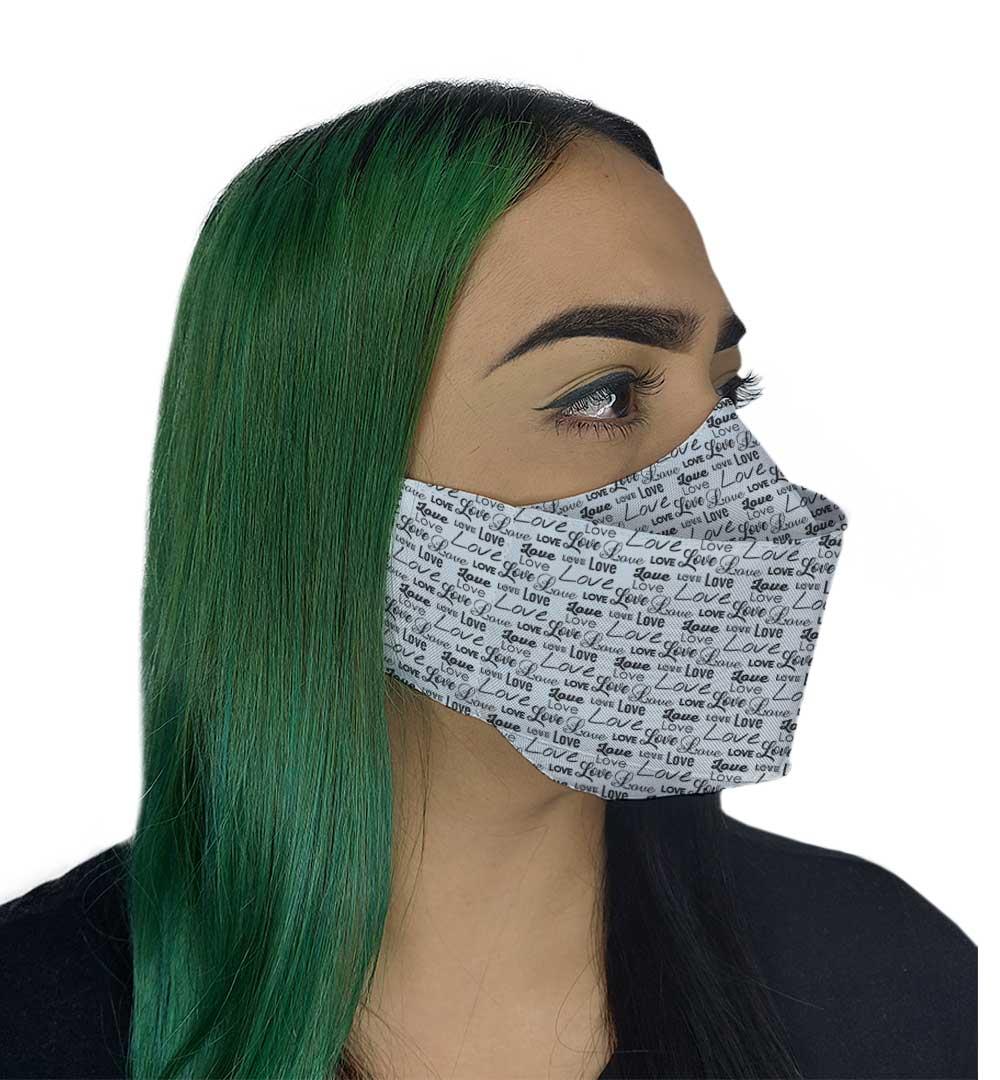 Máscara 3D - Love Branca