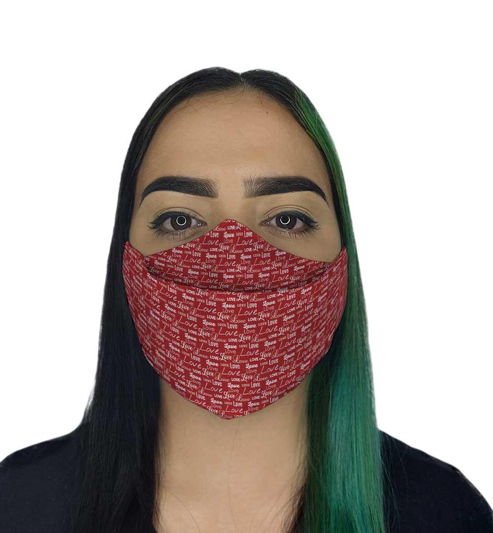 Máscara 3D - Love Vermelha