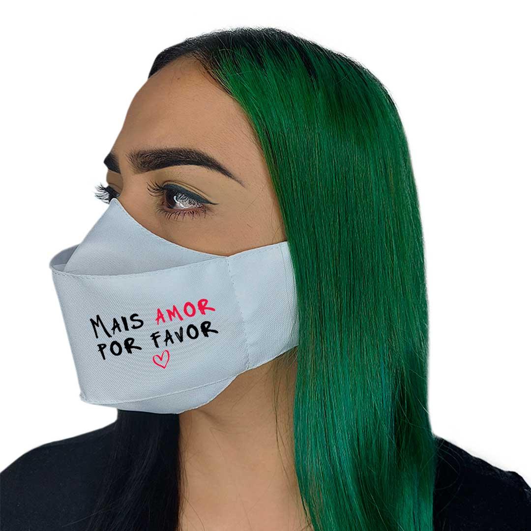 Máscara 3D - Mais Amor Branca I