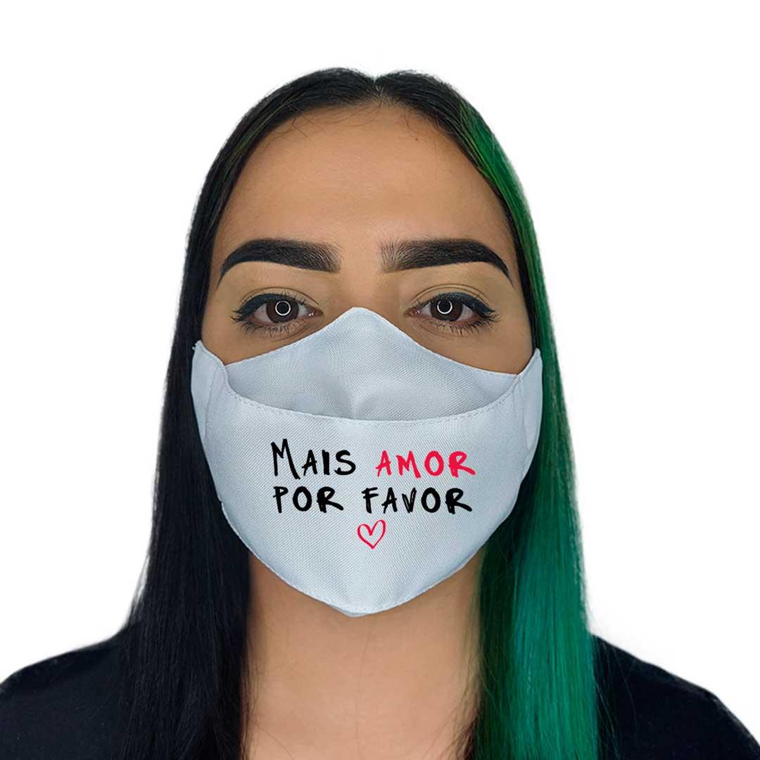 Máscara 3D - Mais Amor Branca II