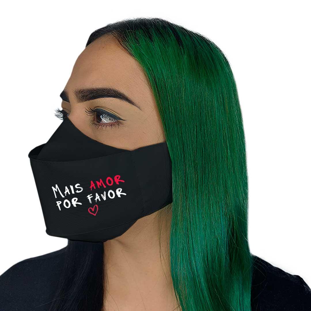 Máscara 3D - Mais Amor Preta I