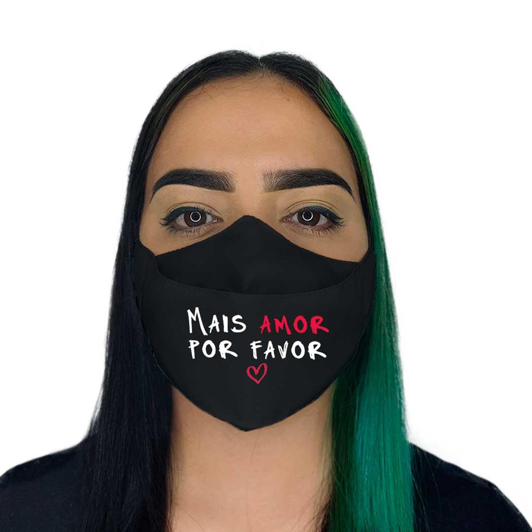 Máscara 3D - Mais Amor Preta II