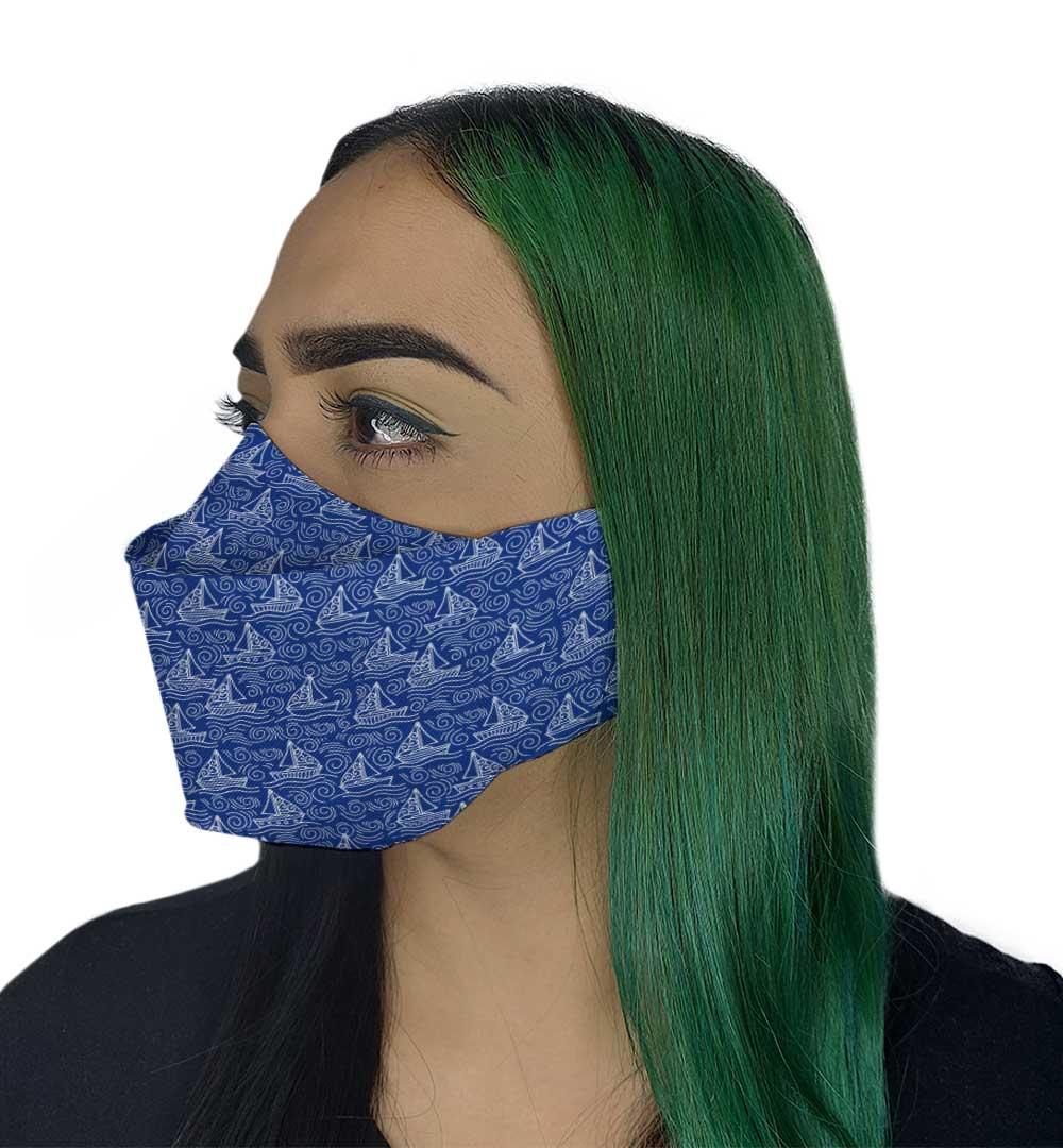 Máscara 3D - Mar Azul