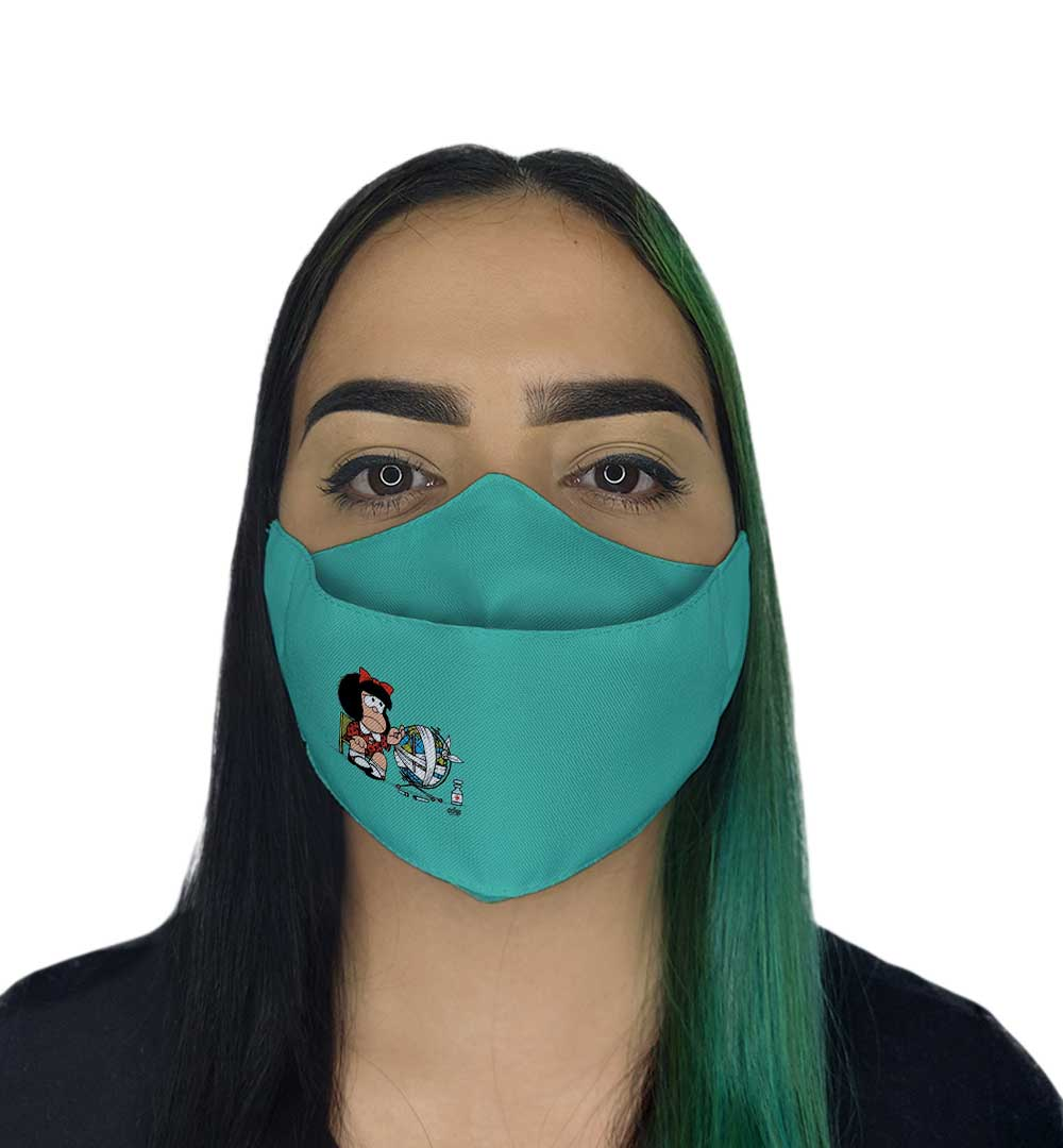 Máscara 3D - Menina de Laço