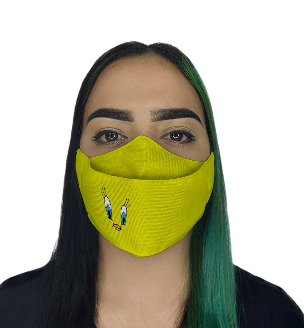 Máscara 3D - Passarinho Amarelo