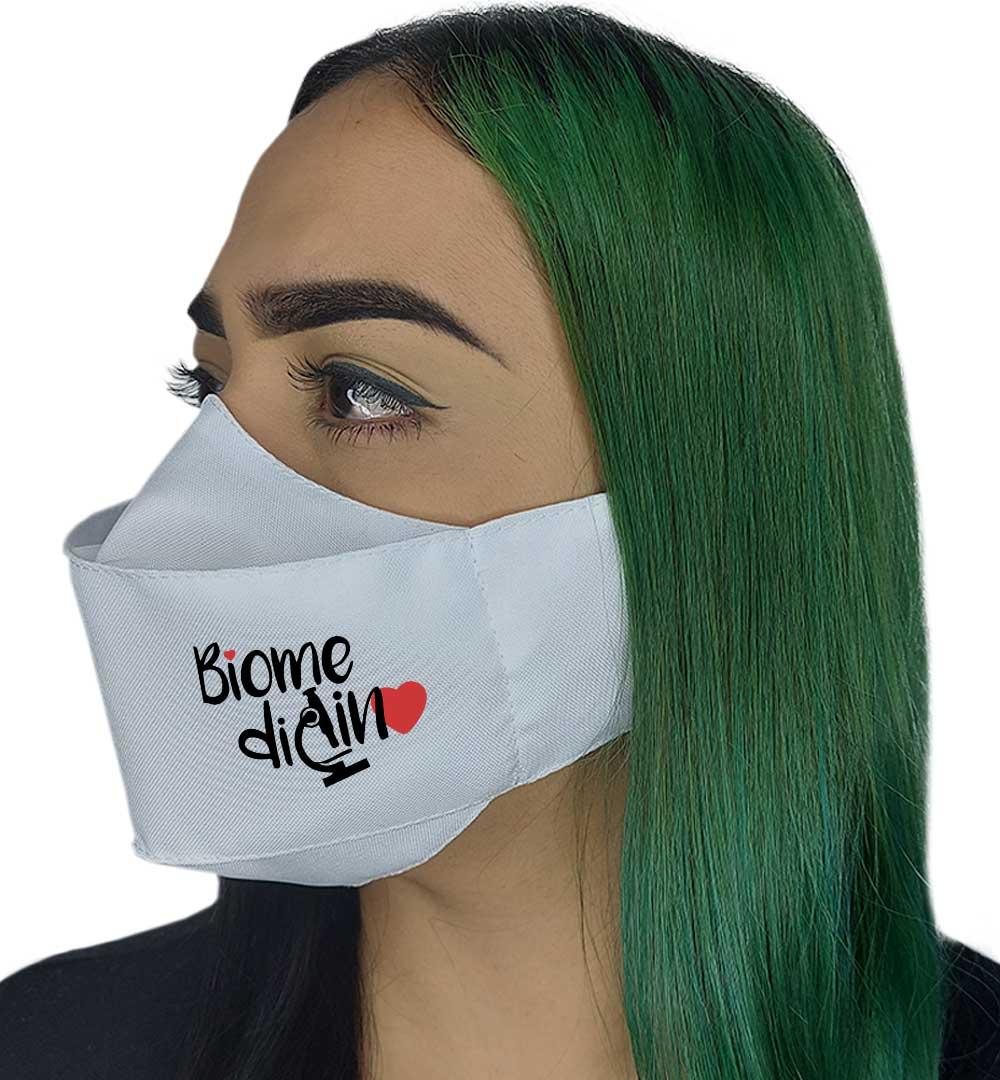 Máscara 3D - Profissão | Biomedicina
