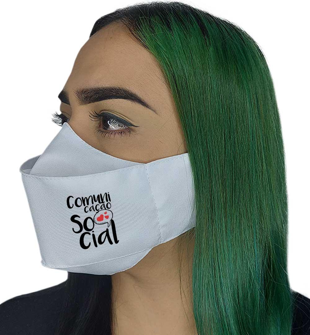 Máscara 3D - Comunicação Social