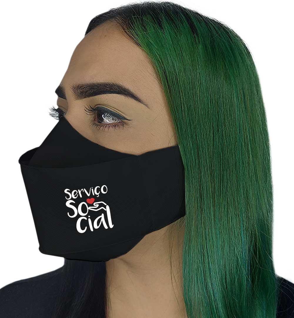 Máscara 3D - Profissão | Serviço Social