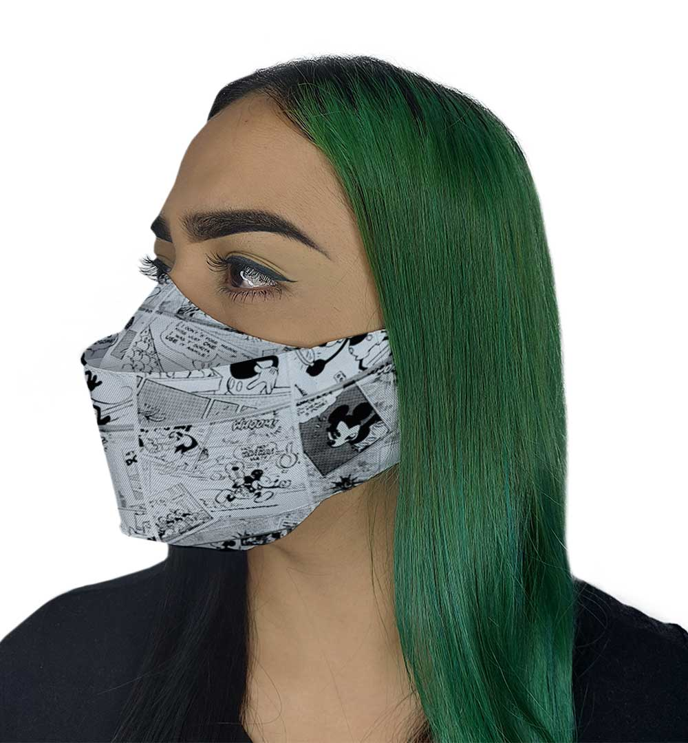 Máscara 3D - Quadrinho