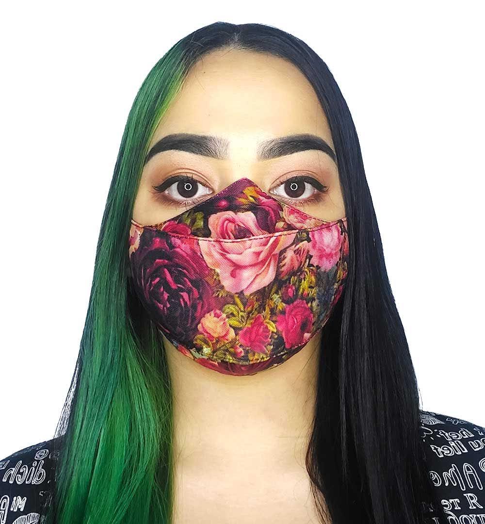 Máscara 3D - Rosas