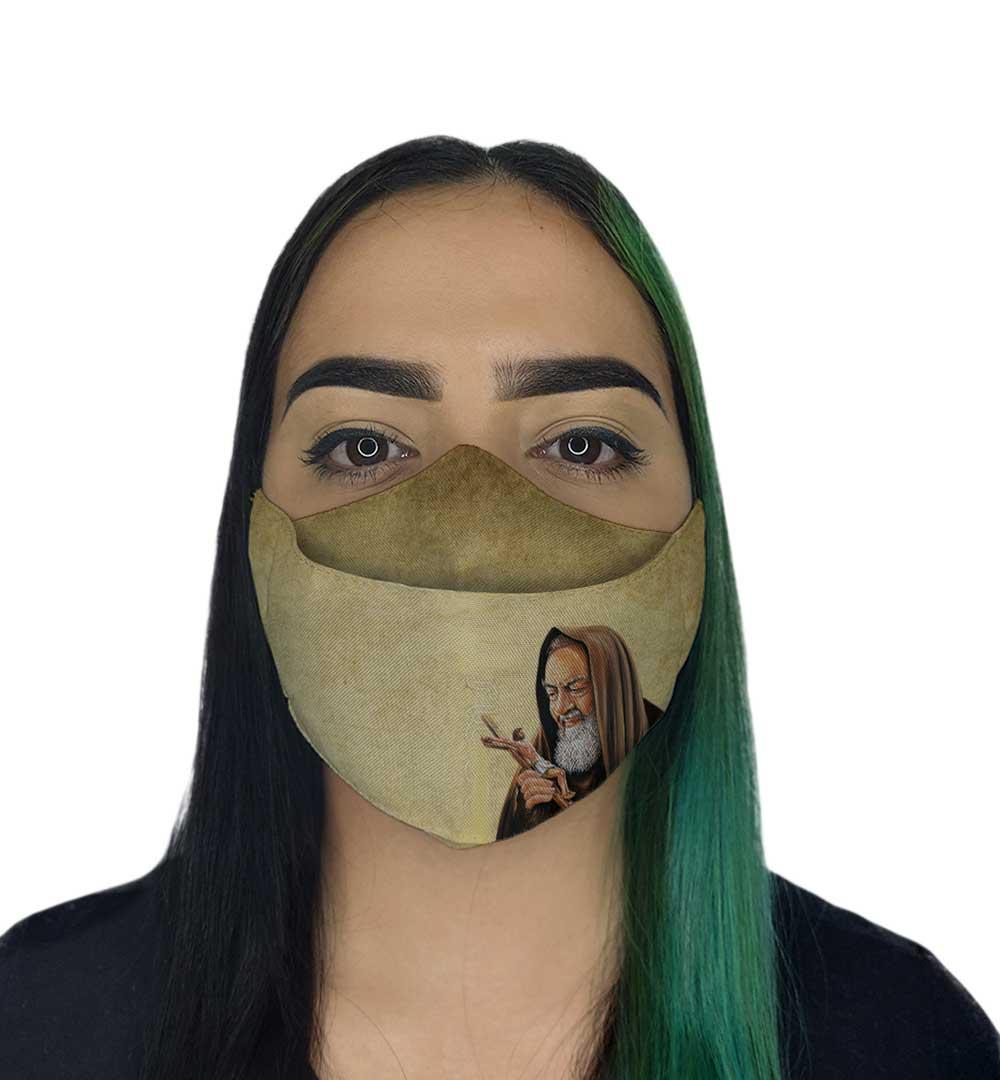 Máscara 3D - São Padre Pio