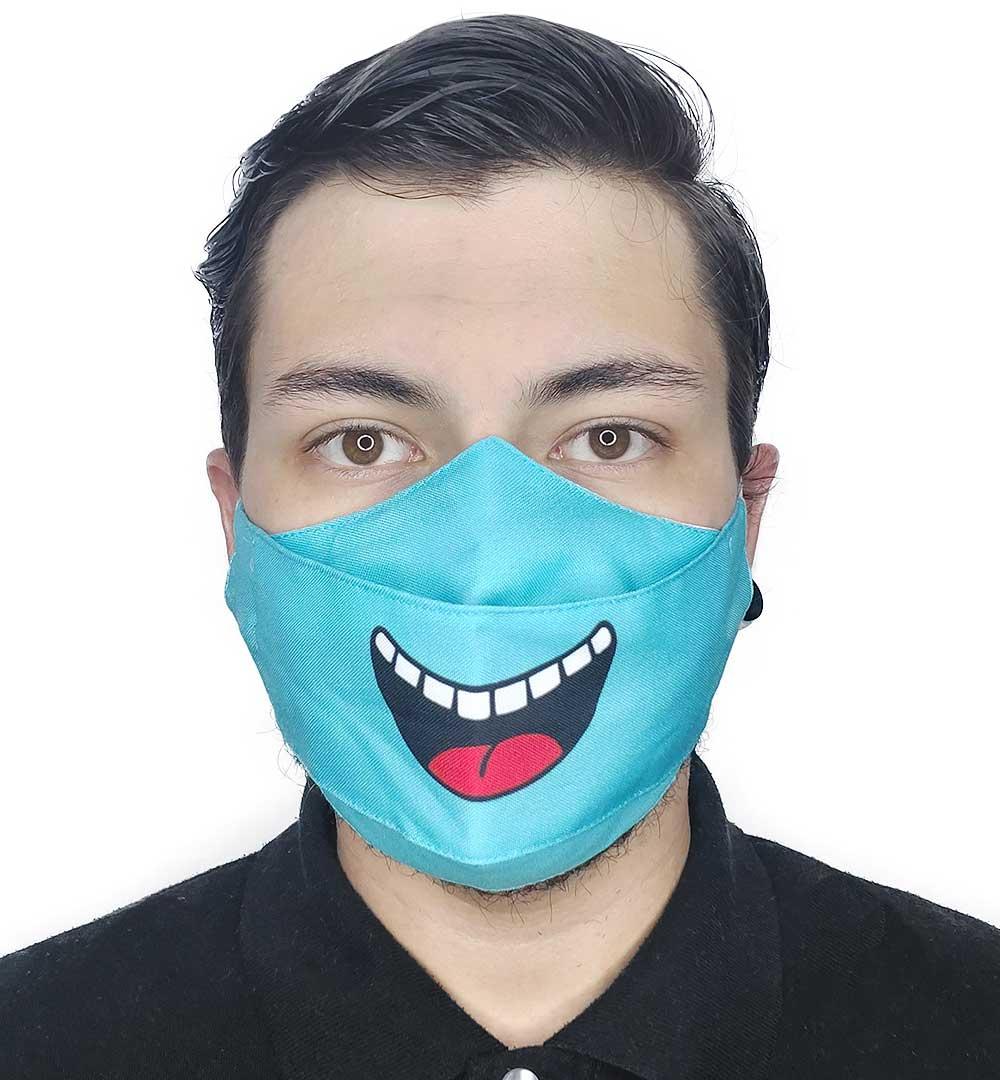 Máscara 3D Sorriso (Azul)