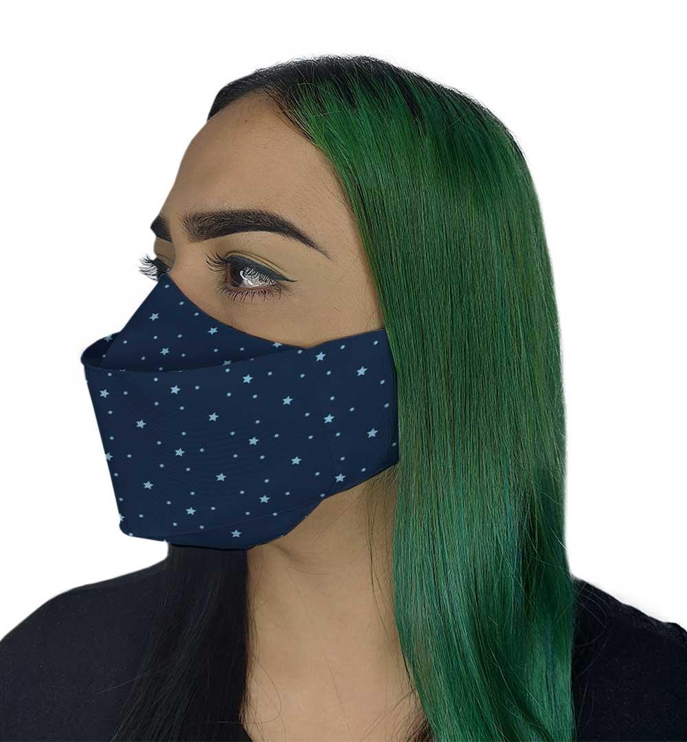 Máscara 3D - Star Azul Marinho