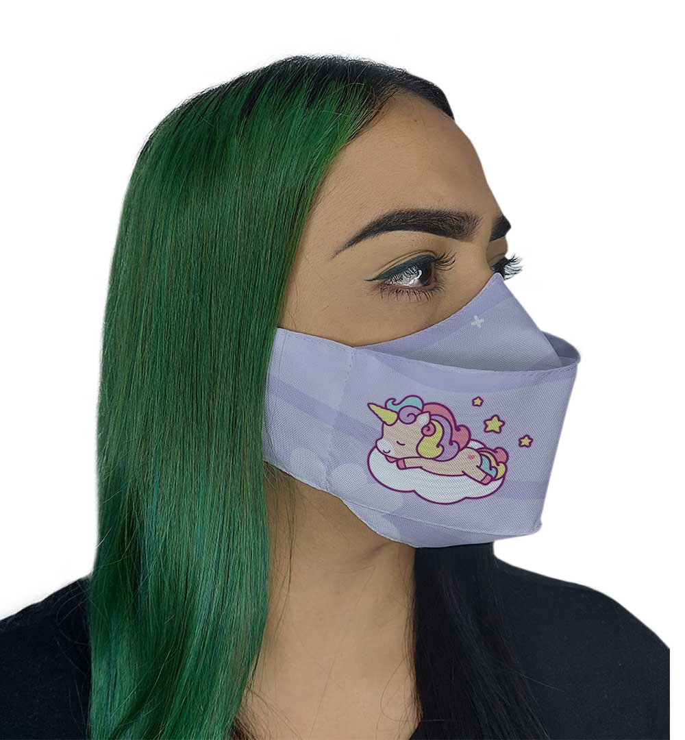 Máscara 3D - Unicórnio