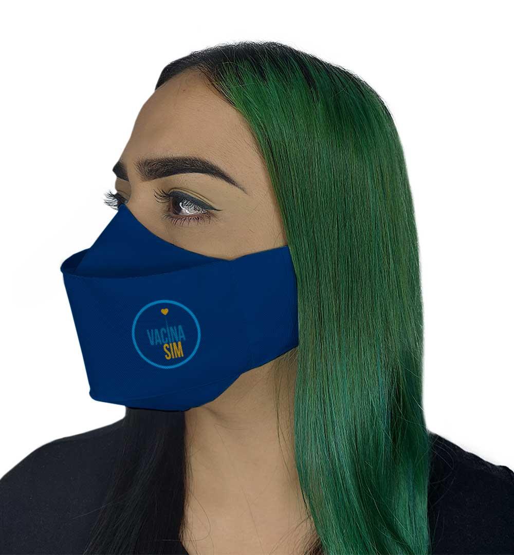 Máscara 3D - Vacina Sim