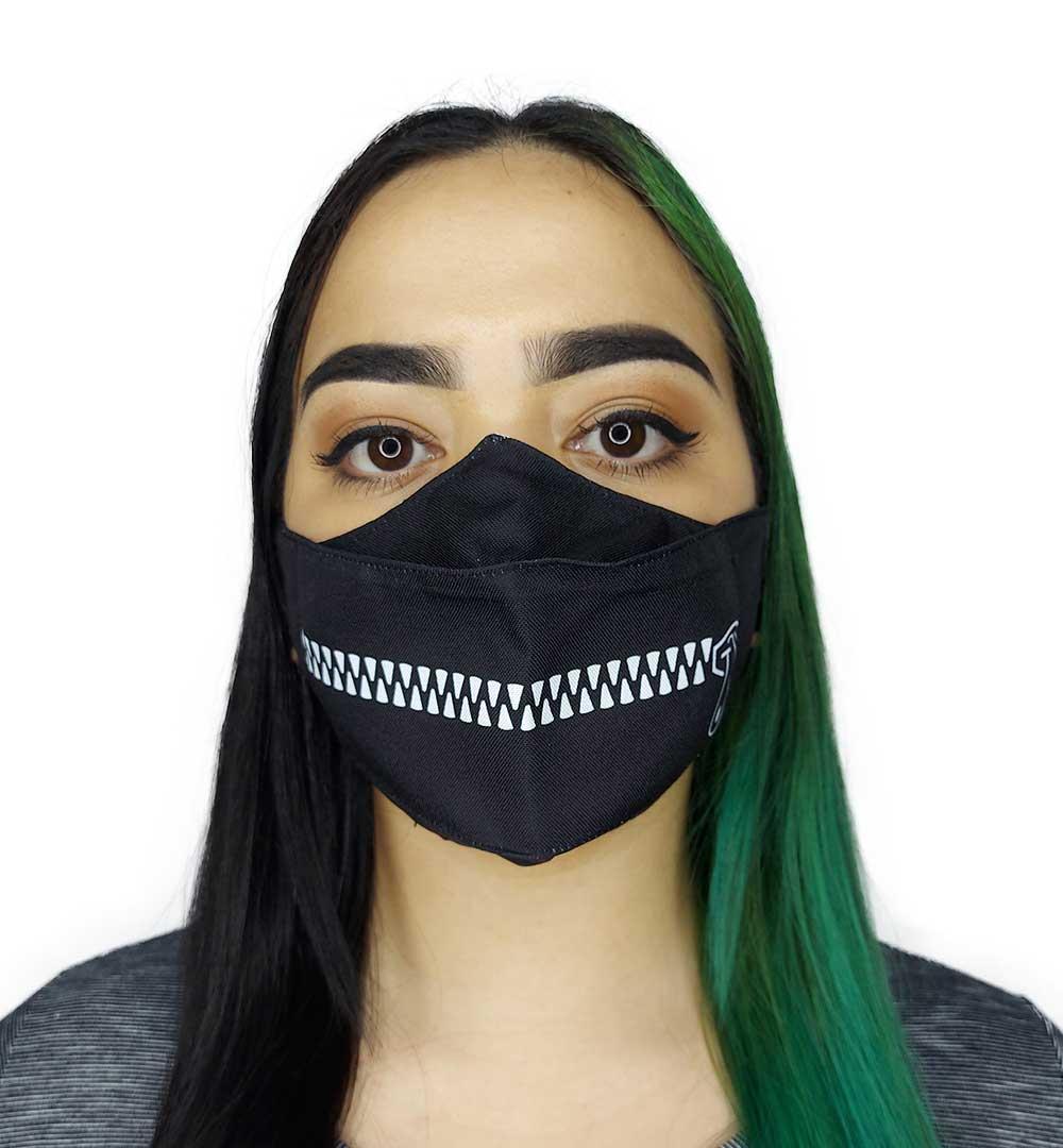 Máscara 3D Zíper