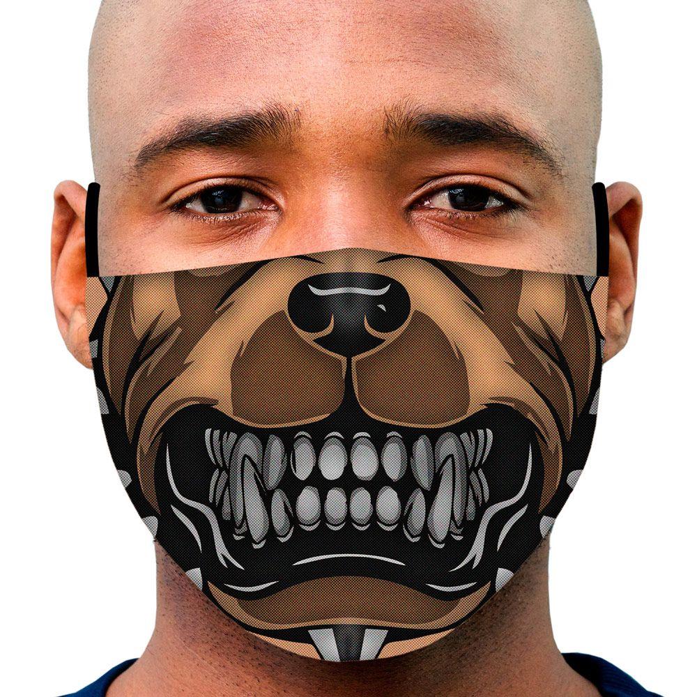 Máscara Animais Focinho Pitbull