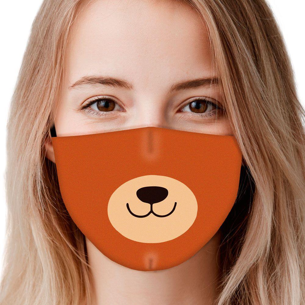 Máscara Animais Focinho Urso