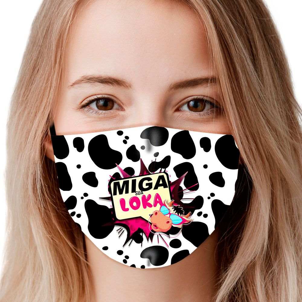 Máscara Animais Vaca Miga sua louca II