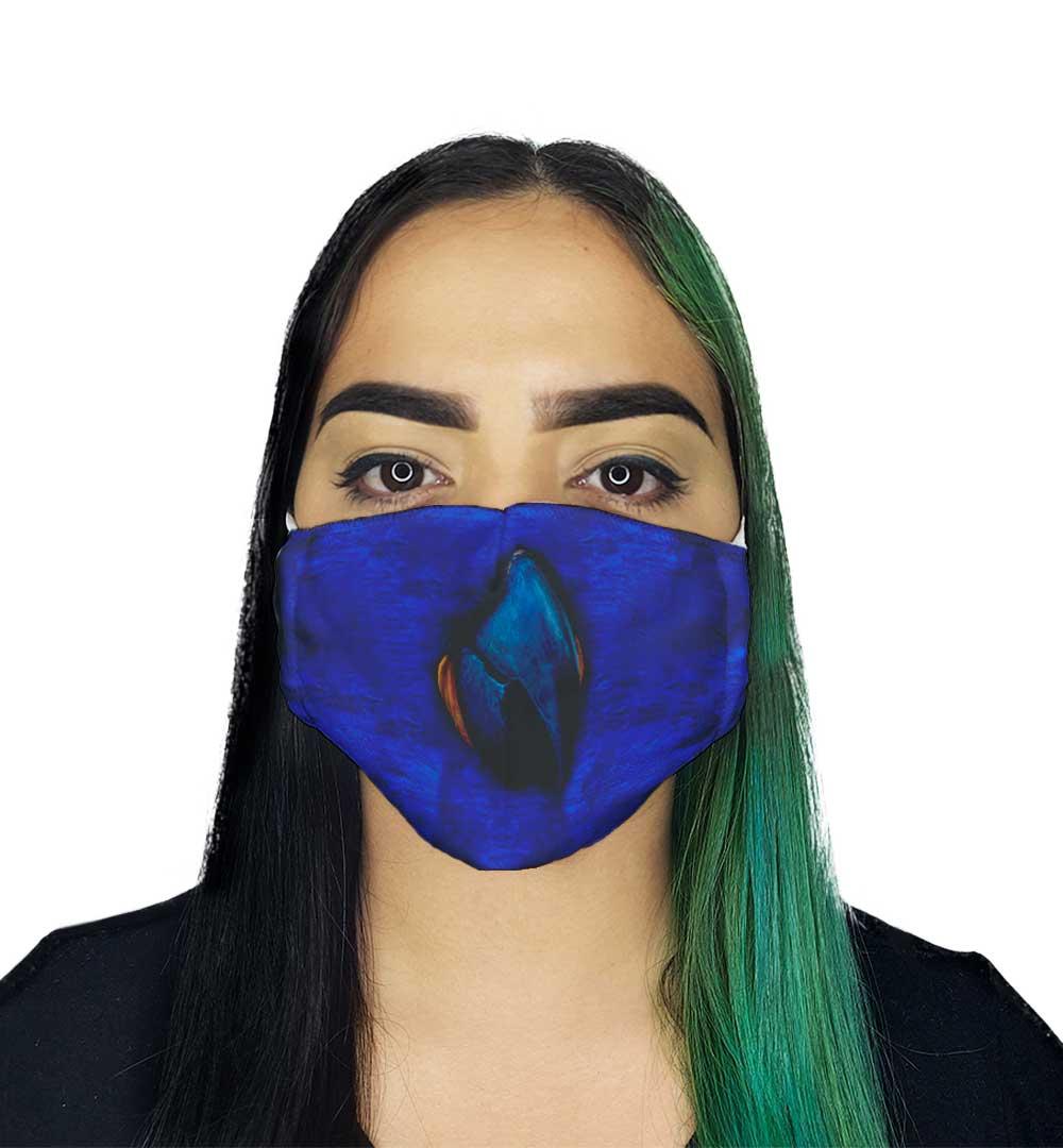 Máscara Arara Azul