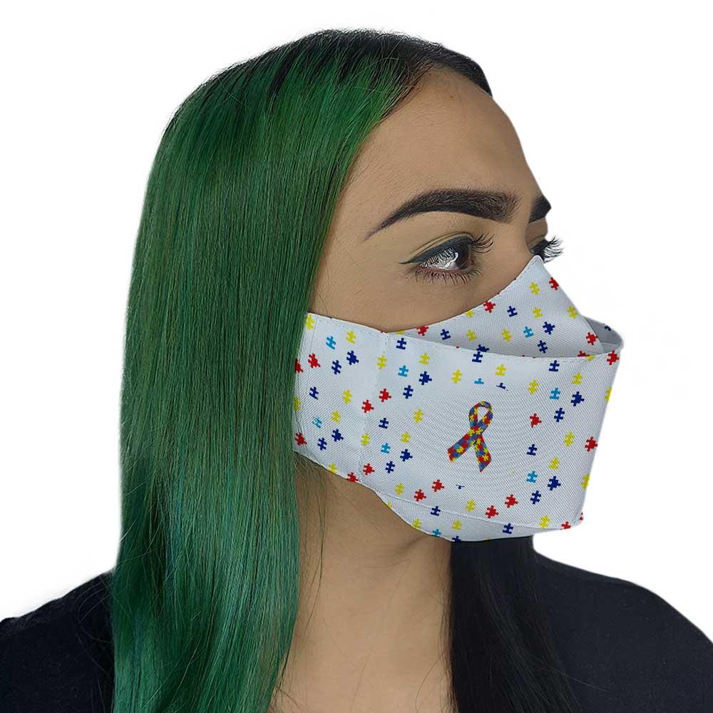 Máscara Autismo com laço